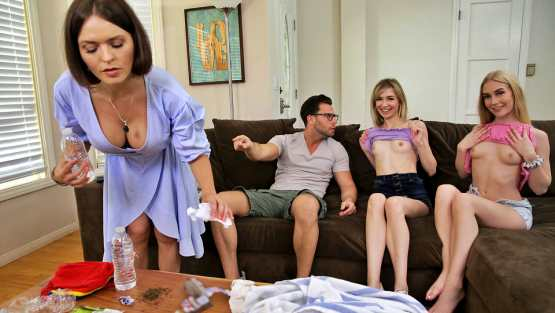 [Bratty Sis] Emma Starletto, Mackenzie Moss: My Friends And I Flash Our Tits To My Brother