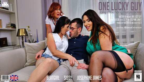 [Mature NL] BeatGirl, Josephine James & Sissy: One lucky guy