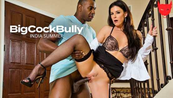 [Big Cock Bully] India Summer fucks a big black cock 25894