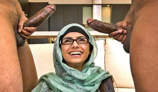 [Monsters Of Cock] Mia Khalifa's First Monster Cock Threesome