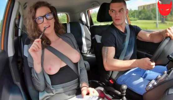 [Fake Driving School] Emylia Argan: MILF instructor fucks her student