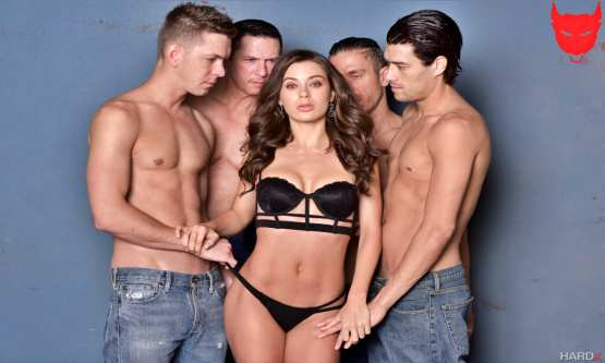 [HardX] Lana Rhoades First Gang Bang