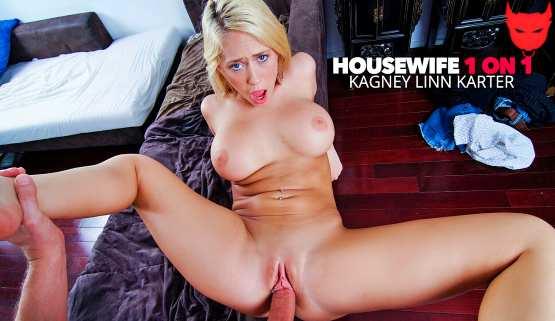 [HouseWife 1 on 1] Wife Kagney Linn Karter fucking her husbands big cock 26294
