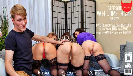 [Mature NL] Danny, Irenka & Suzzane: A stepsons coming home party with three horny cougars (HD/2020)