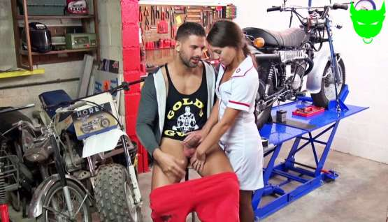 [Jacquie Et Michel TV] Tiffany enjoys playing the naughty nurse