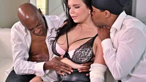 [DDF Busty] Sofia Lee: Buxom Brunette DPd By BBC